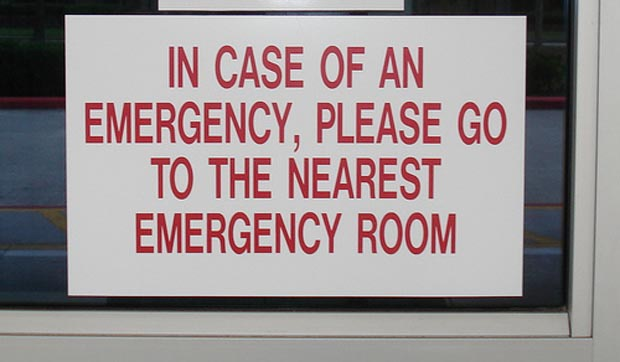 red text sign
