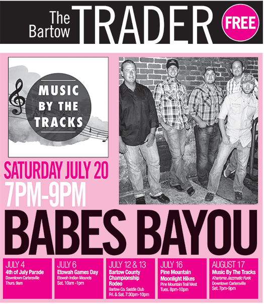 Babe's Bayou Returning to Downtown Cartersville on Saturday, July 20th