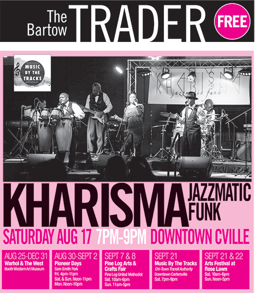 Kharisma Jazzmatic Funk  on Saturday, August 17th Popular band set to perform  at downtown  Cartersville's Music by the Tracks event